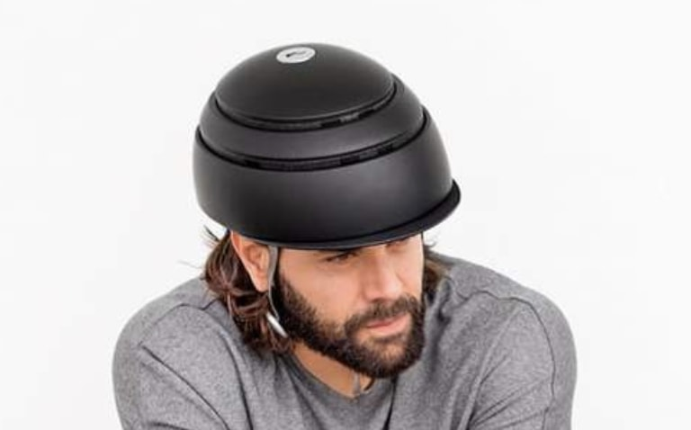 Wearing a Closca Collapsible Helmet