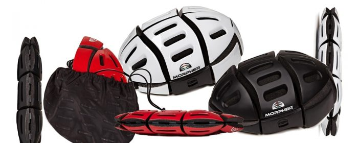 Morpher foldable bike helmets